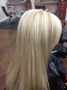 platinum blonde with lowlights dark brown hairs