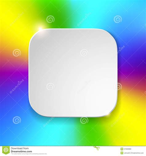 blank app icon template with flatted white textur royalty