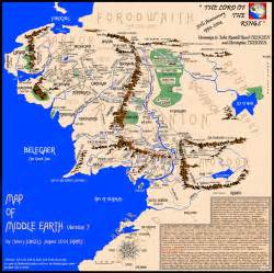 tolkien map middle earth the great void