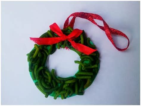christmas wreath pasta ornament youtube