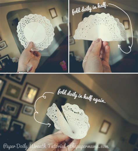 How To Make Flowers Out Of Paper Doilies - paper doily wreath tutorial the paper