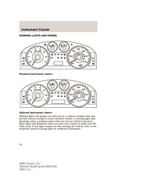 car repair manual download 2006 ford fusion user handbook 2006 ford fusion owners manual