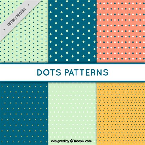 dots pattern freepik 6 patterns with dots vector free download