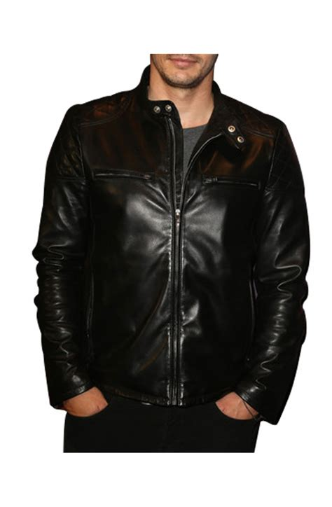 Black Leather Quilted Jacket by Black Leather Quilted Jacket Franco Jacket