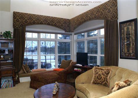 Home Decor Window Treatments cornice window treatments with drapery panels interior