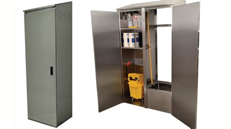 Mop Storage Cabinet by Advance Tabco Introduces Stainless Steel Mop Cabinets