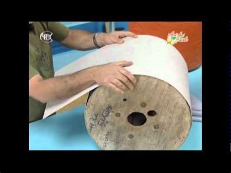 manualidades van gogh puf taburete  carrete de cable parte avi youtube