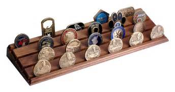 35 challenge coin wood walnut display stand rack made in