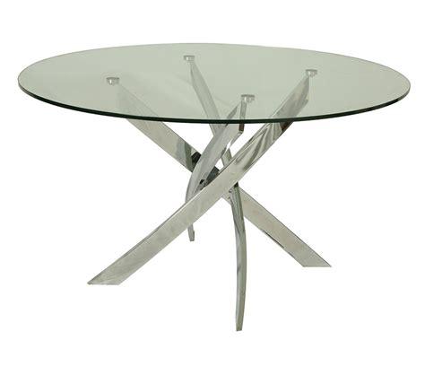 Glass Top Circular Dining Table Dreamfurniture Fahrenheit Dining Table With 51 Quot Glass Top