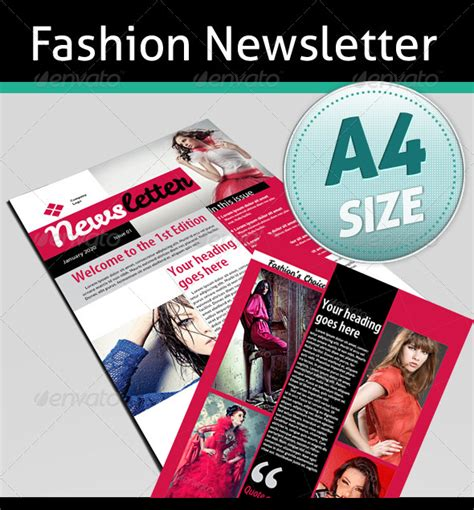 fashion newsletter templates impressive newsletter template designs entheos