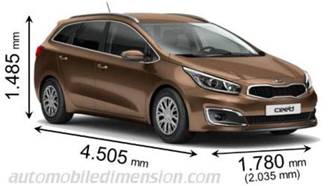 Kia Ceed Sw Dimensions Dimensions Of Kia Cars Showing Length Width And Height