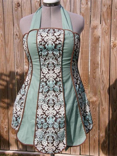 vintage apron pattern uk vintage inspired retro apron blue scroll pattern free