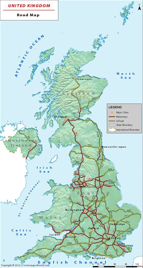 printable road maps uk uk road network map is a great companion on roads of