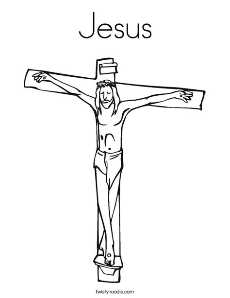 jesus on the cross coloring page template coloring pages