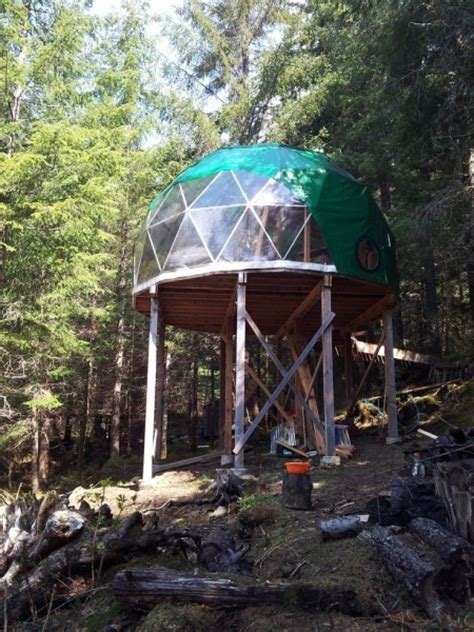 Pvc Cabins by Elevated Tiny Dome Cabin Tiny House Pins