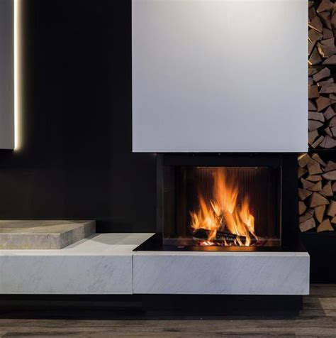 Foyer Pour Cheminee Bois foyers bois pour chemin 233 e 224 porte escamotable m design