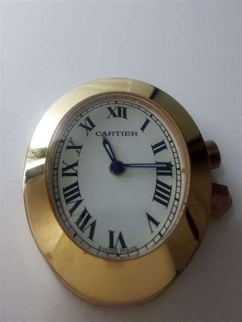orologio da tavolo cartier orologio da tavolo e da viaggio cartier al quarzo catawiki