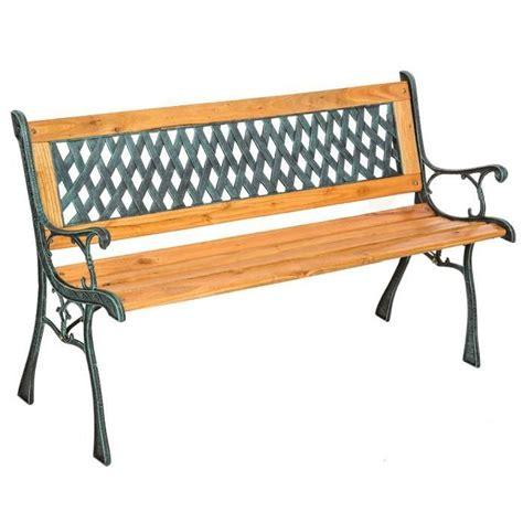 banc d banc de jardin en bois et fonte tectake 128 cm x 51 cm x 73 cm achat vente banc d ext 233 rieur