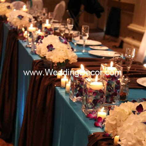 Head Table Decorations   Turquoise & Brown   Head table