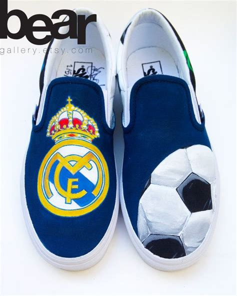 real madrid slippers custom vans painted shoes real madrid soccer by