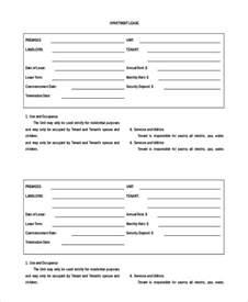 Blank Rental Agreement Template apartment rental agreement 8 free word pdf documents