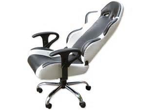 chaise fauteuil blanc siege baquet fauteuil de bureau chaise de bureau baquet