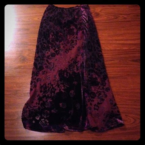 vintage flowing purple maxi skirt from s closet on