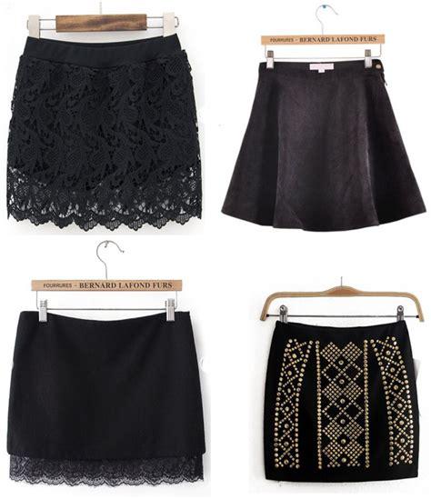 faldas de cortas faldas negras cortas de