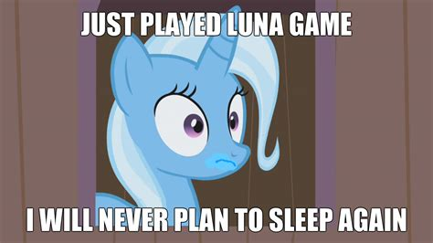 Mlp Luna Meme - trixie luna game meme my little pony friendship is magic