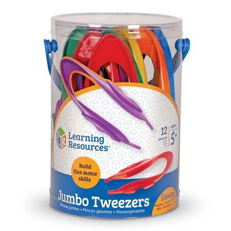 Learning Resources Jumbo Tweezer jumbo tweezers set of 12 learning resources 174