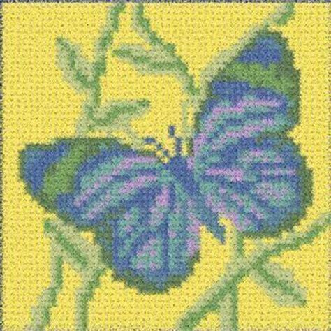 latch hook rug pattern chart blue butterfly email2u