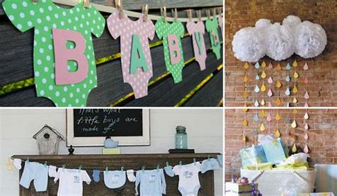 how to make baby shower decorations at home cheap diy decorating ideas for baby shower party
