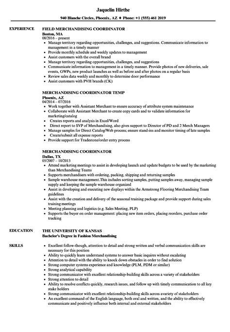 Visual Merchandiser Resume Sle