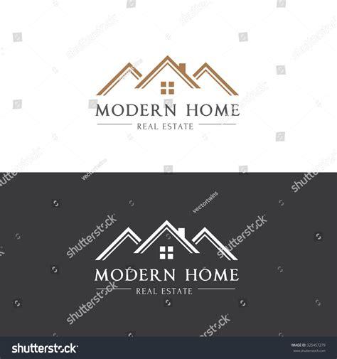 modern house real estate modern home real estate logohouse logovector stock vector