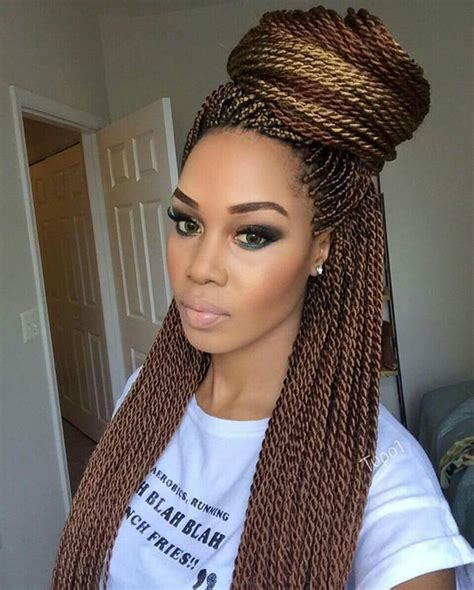 Type Of Hair For Senegalese Twists by 25 Best Ideas About Colored Senegalese Twist On