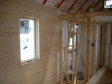 Pine Interior Walls by Installing Knotty Pine Interior Walls Tiny House On