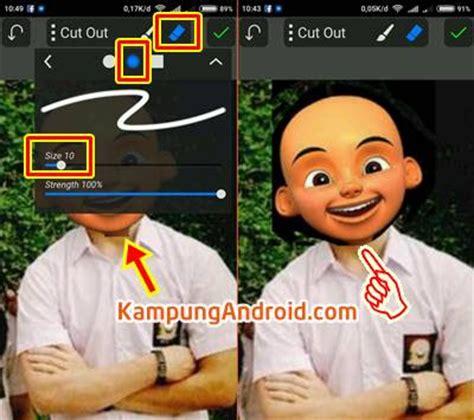 tutorial edit foto ganti wajah aplikasi dan tutorial cara edit foto kepala upin ipin lengkap