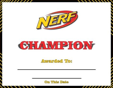 printable nerf images nerf rebelle training day chion certificate printable
