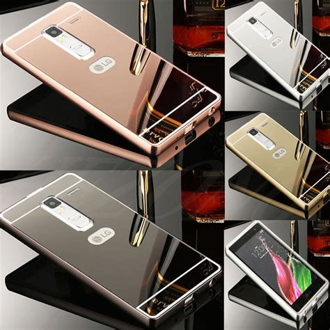 Lg X Xcam K580 Aluminium Metal Bumper Mirror Casing Cermin us luxury metal aluminum frame bumper pc mirror back cover for lg phone ebay