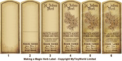 Ok The Long Awaited Guide To Creating Our Herb Labels Mytinyworld Dolls House Miniatures Tincture Label Template