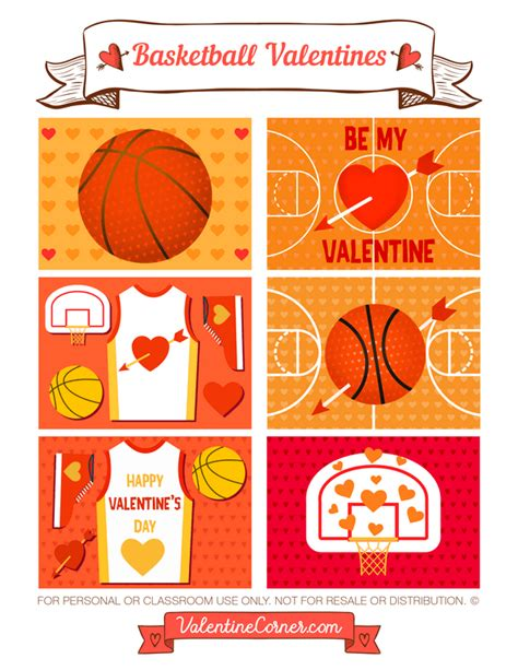basketball valentines printable basketball valentines