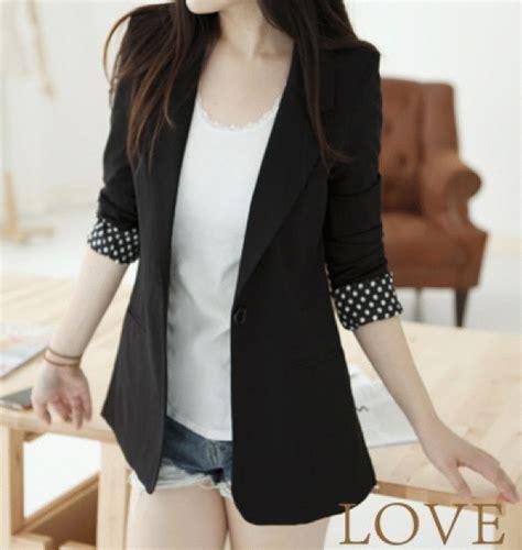 Special Blazer Kerja Wanita 1 Kancing Hots Product jual cewek model fashion santai blazer annawati olshop
