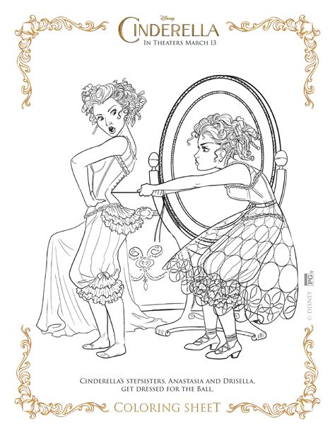 new cinderella coloring page new disney s cinderella coloring pages and activity sheets