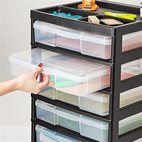 iris 6 drawer cart iris 6 drawer scrapbook cart with organizer top black