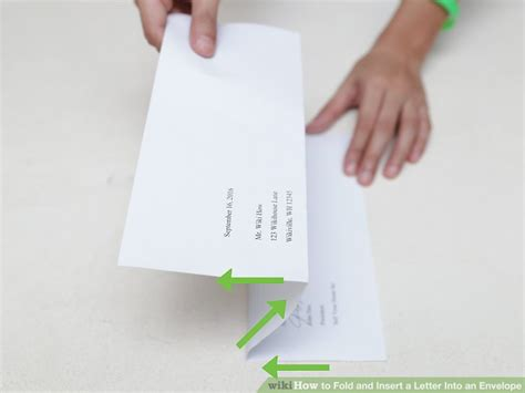How To Fold A Paper Letter - the 3 best ways to fold and insert a letter into an envelope