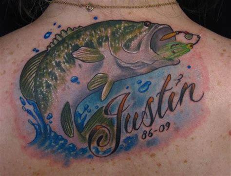 new school memorial tattoo bass fish memorial tattoo color in tattoos 2010 by jon von