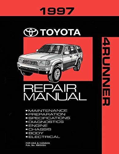 service manual motor auto repair manual 1998 toyota tacoma free book repair manuals service 1997 toyota 4 runner shop service repair manual book engine drivetrain oem toyota 4runner outpost