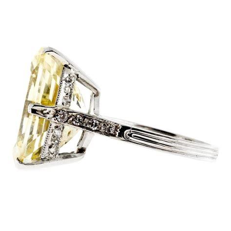 Royal Blue 3 11 Ct Garansi No Heat yellow sapphire platinum ring at 1stdibs