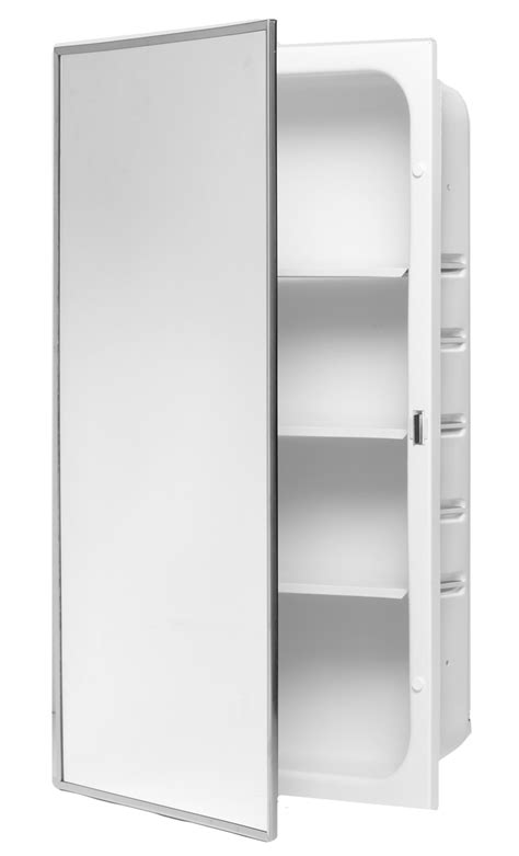 3 shelf powder coated medicine cabinet bradley