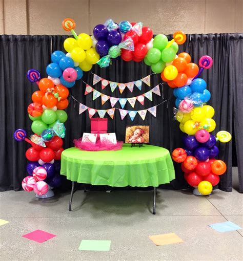 Candyland Decoration by Event Decorating Company Candyland Balloon Arch